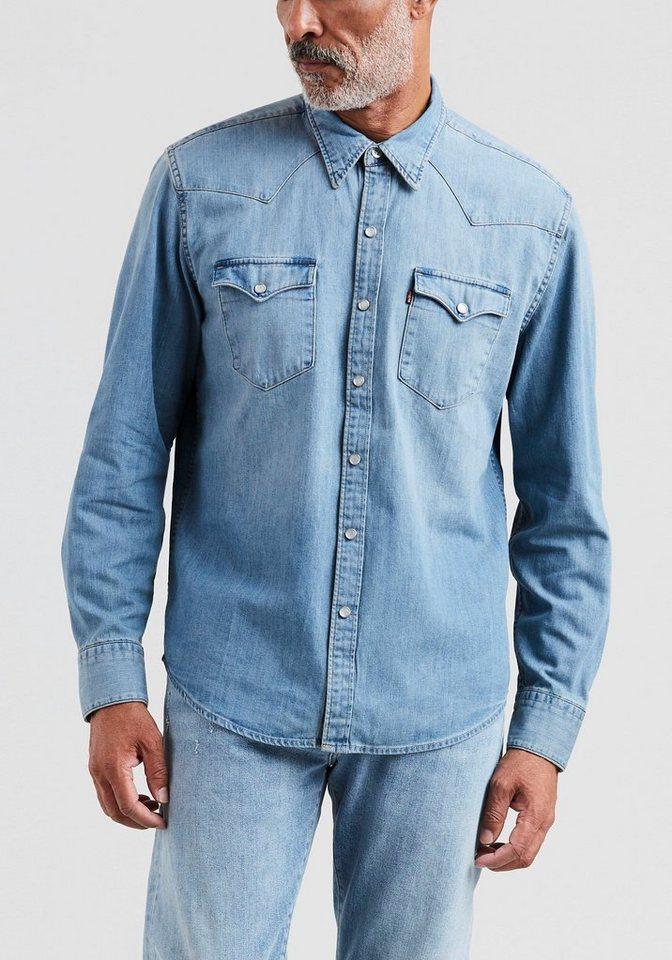 Herren Levi s® Jeanshemd BARSTOW WESTERN blau | 05415211929852