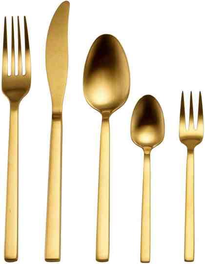 Guido Maria Kretschmer Home&Living Besteck-Set »Golden Look«, Edelstahl 18/10, PVD gold mattiert