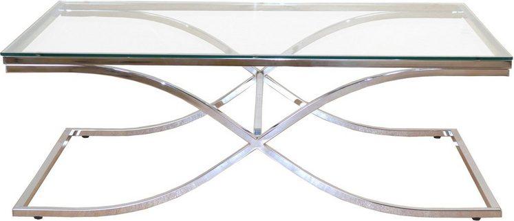 Home affaire Beistelltisch mit Sicherheits-Glasplatten, Maße (B/T/H): 120/70/42 cm