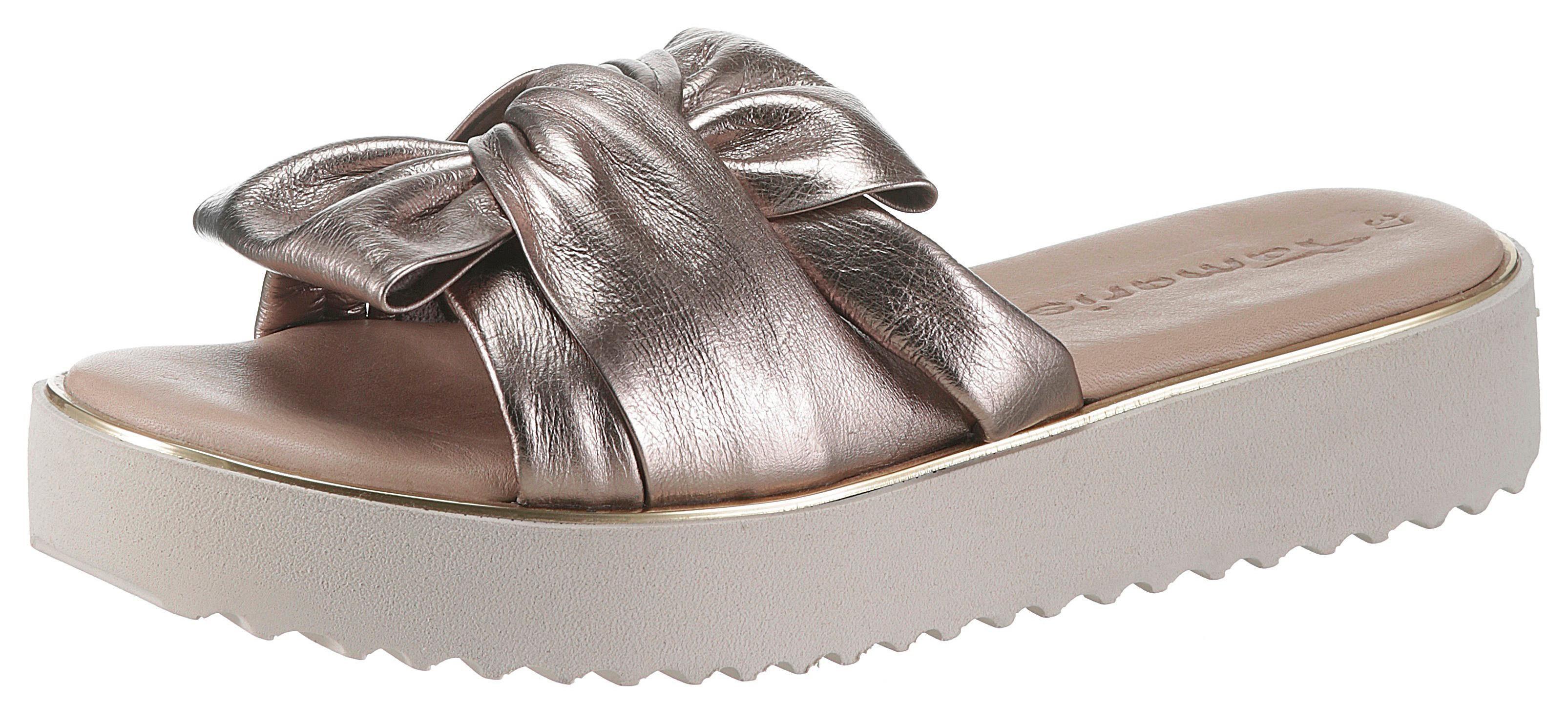 Tamaris Pantolette im schönen Metallic Look kaufen | OTTO