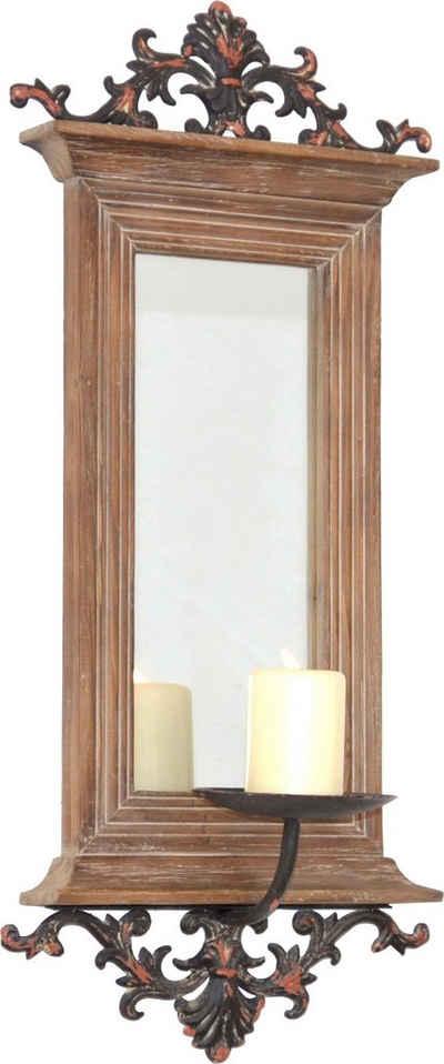 HOFMANN LIVING AND MORE Kerzenhalter, Maße (B/T/H): 26/15/56 cm braun