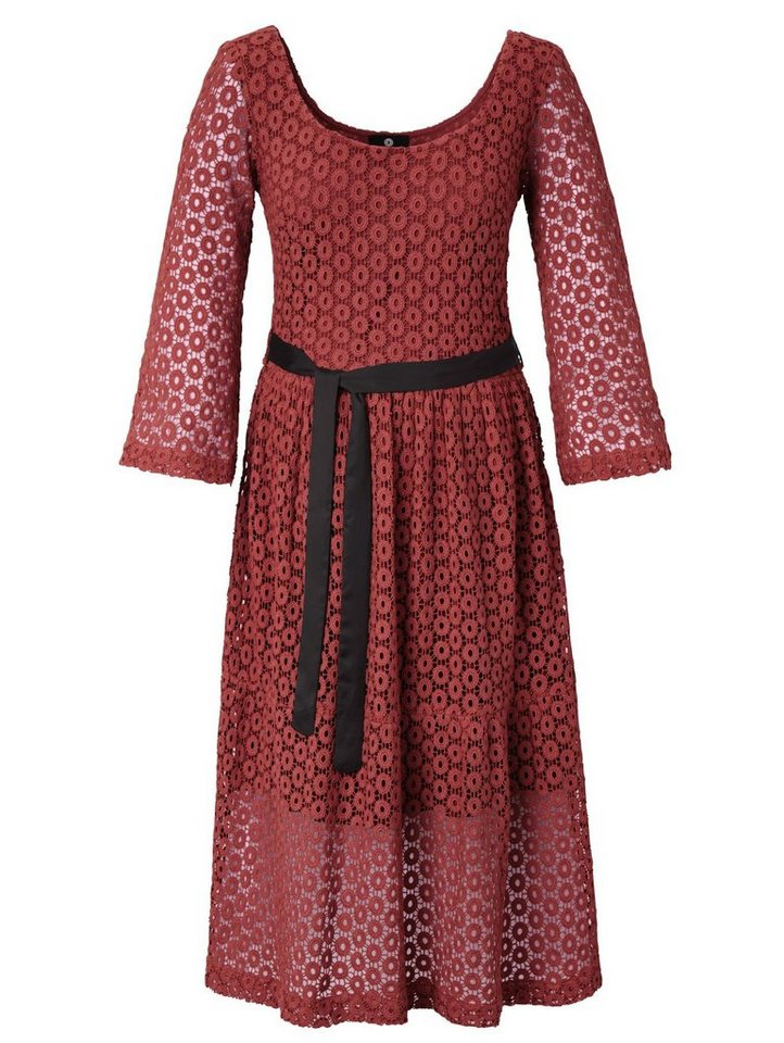 Festtagsmode - Sienna Kleid hochwertige Spitze aus Baumwolle › rot  - Onlineshop OTTO