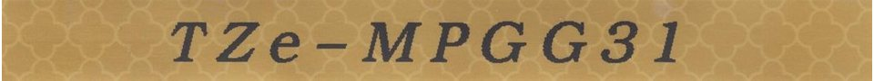 """Brother Schriftband """"P-Touch TZe-MPGG31"""" Schwarz auf Gold-Geometrisch online kaufen"""