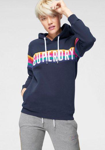 Superdry Kapuzensweatshirt »CARLY CARNIVAL HOOD« im angesagten Rainbow-Design