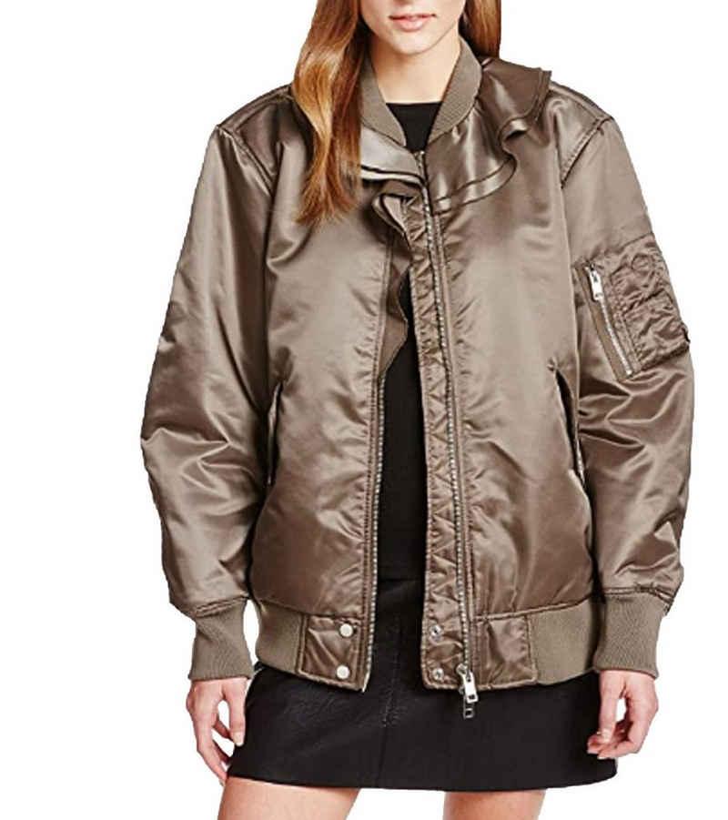 Diesel Bomberjacke »DIESEL Bomber-Jacke coole Damen Freizeit-Jacke Outdoor-Jacke mit wärmender Wattierung Olivgrün«