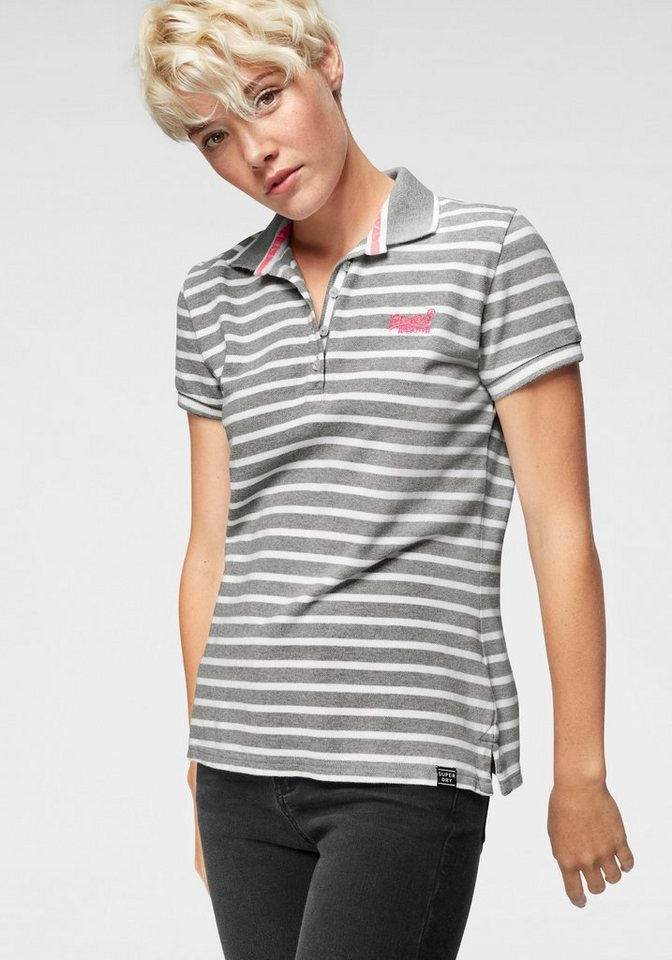 Superdry Poloshirt »CLASSIC POLO TOP« mit dezenter Logostickerei ... b4ab4a29ee