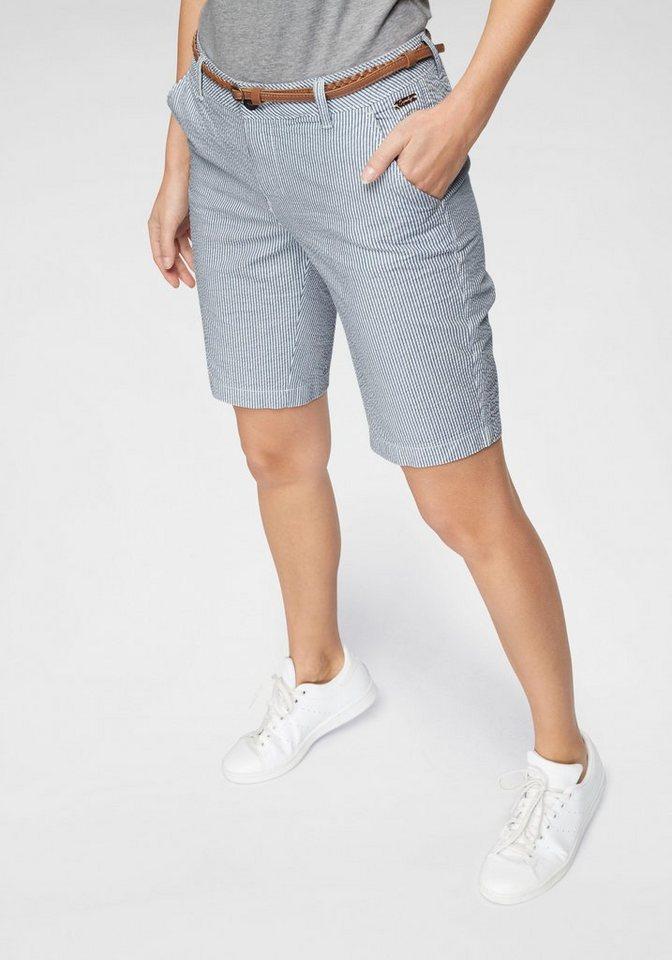 f01285ac4a04d Superdry Shorts »CHINO CITY SHORT« mit feinen Streifen und modischem  Flechtgürtel