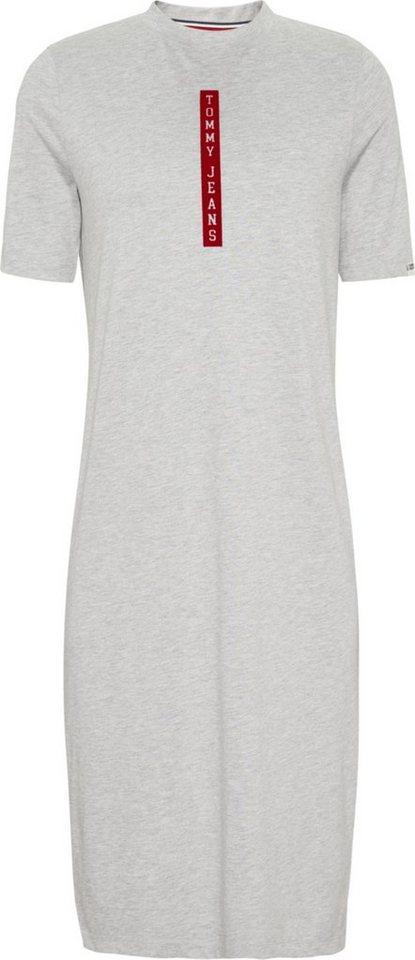 Tommy Jeans Kleid »TJW MIDI T-SHIRT DRESS« | Bekleidung > Kleider > Jeanskleider | Grau | Polyester - Pes | TOMMY JEANS
