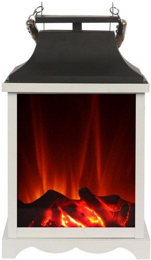 El Fuego LED Laterne, mit Flammeneffekt, Höhe ca. 38 cm