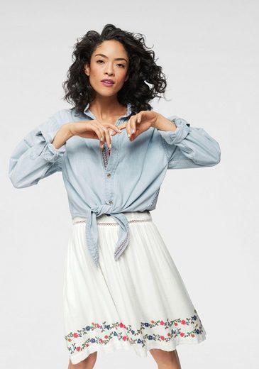 Superdry Jeansbluse »DENIM TIE SHIRT« mit süßem Knoten-Detail