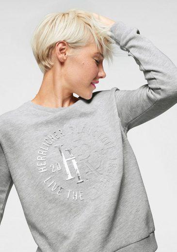 Herrlicher Sweatshirt »Anetta« mit Metallic-Print