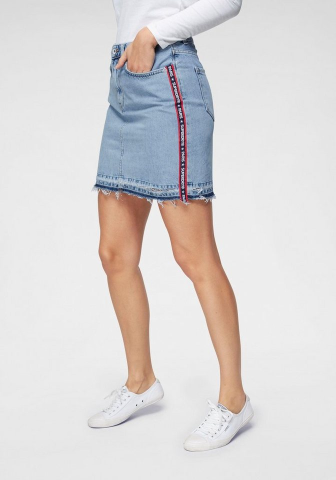 new photos 9f9a1 f6640 Superdry Jeansrock »DENIM MINI SKIRT« mit Galonstreifen online kaufen | OTTO
