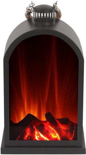 El Fuego LED Laterne, mit Flammeneffekt
