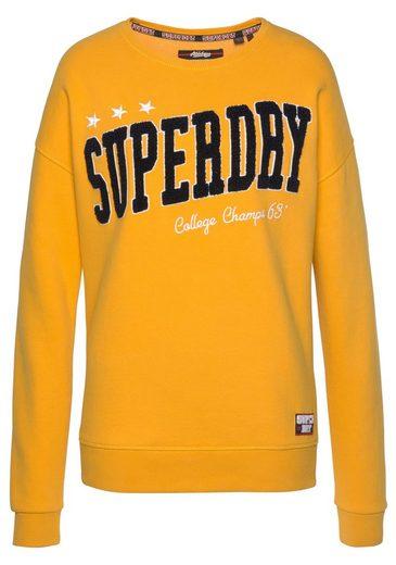 Sweatshirt Trendfarbe Superdry Gelb Crew« »blair In 16w6fZqz