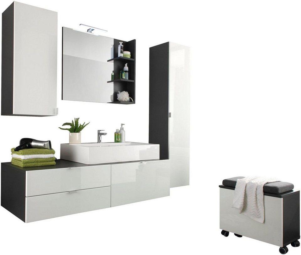 trendteam badm bel set beach 4 tlg mit aufsatzwaschbecken online kaufen otto. Black Bedroom Furniture Sets. Home Design Ideas