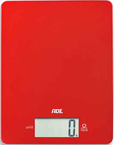 Ade KE 926 Slim Digitale Küchen-Waage Sicherheits-Glas LCD-Display Touch Tara
