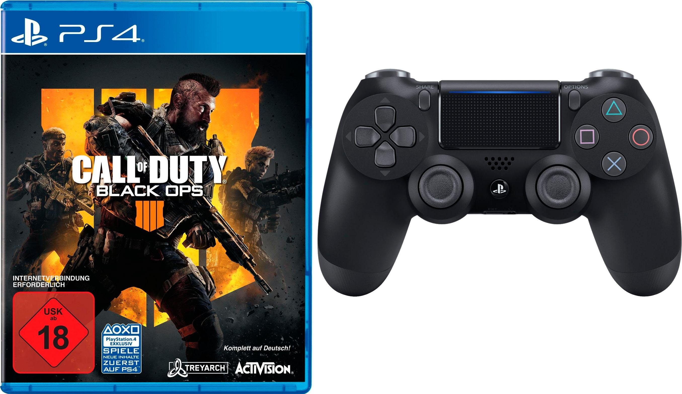 Call of Duty Black Ops 4 PlayStation 4, inkl. PS4 Wireless Controller in schwarz