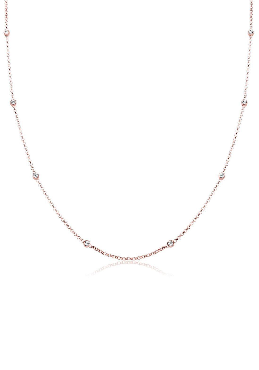 Elli Kette ohne Anhänger »Solitär Basic, 0105581617« mit Swarovski® Kristallen