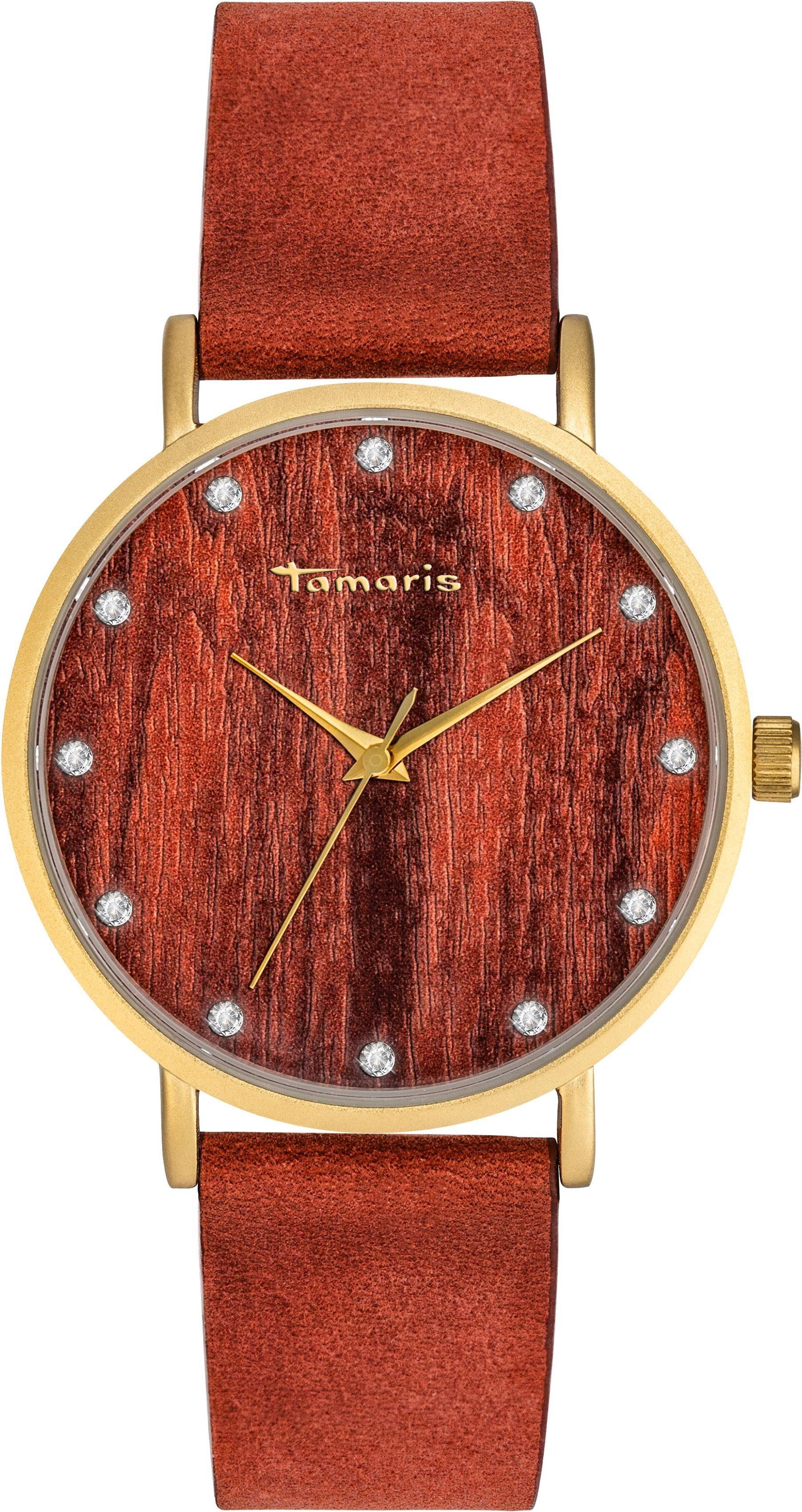 Tamaris Quarzuhr »Alva wood gold, TW032«