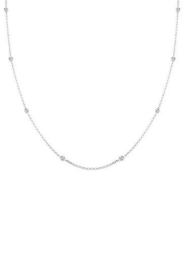 Elli Silberkette »Silitär Basic, 0109741013«, mit Swarovski® Kristallen