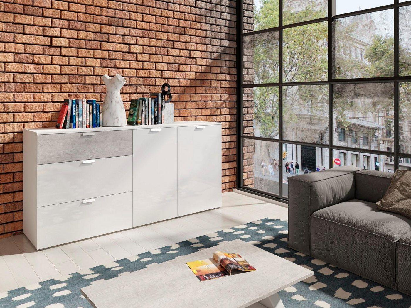 Sideboard Breite 172 cm weiß   05900488564214