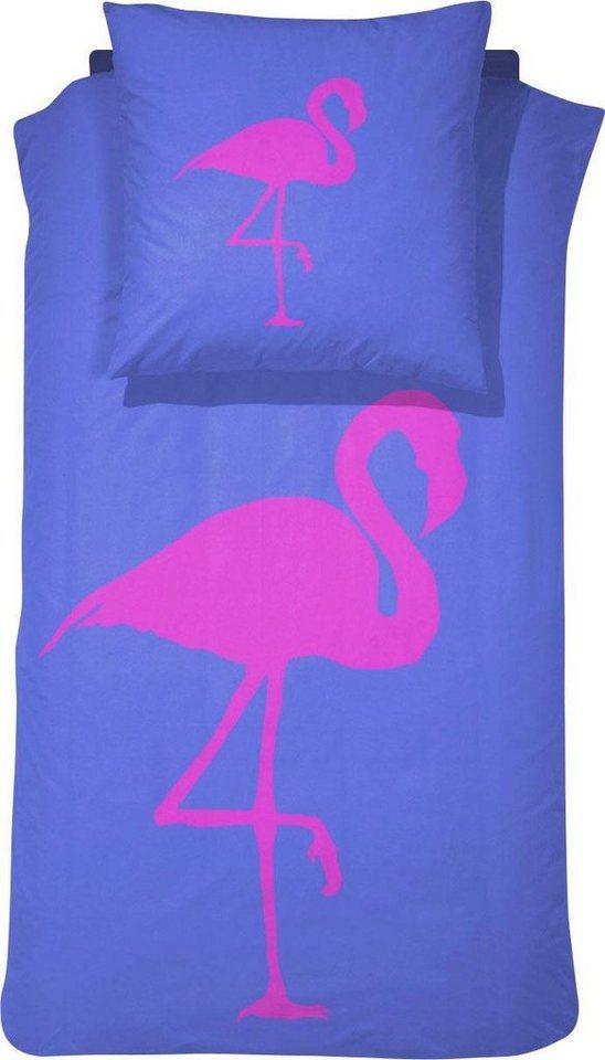 bettw sche best flamingo damai mit einem flamingo. Black Bedroom Furniture Sets. Home Design Ideas