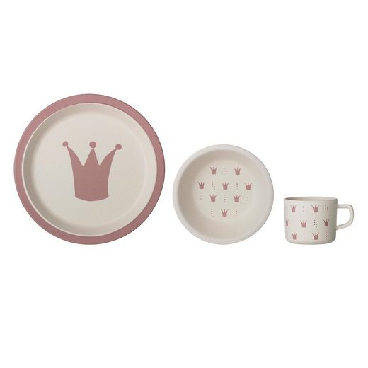 Bloomingville Kindergeschirr-Set »Serie Princess« (3-tlg), Bambus