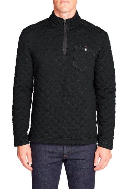 Herren Eddie Bauer Sweatshirt Forty Sweatshirt mit 1 4-Reissverschluss schwarz   04057682359106