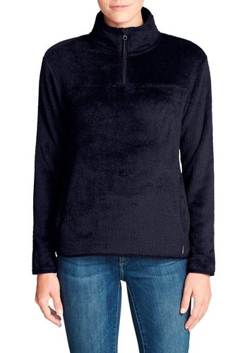 Damen Eddie Bauer Fleecepullover Quest Kuschel-Fleece mit 1/4-Reissverschluss blau | 04057682375953