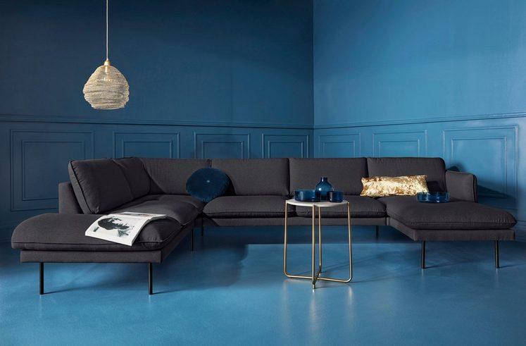 COUCH♥ Wohnlandschaft »Levon«, in moderner Optik, mit Metallbeinen, COUCH Lieblingsstücke
