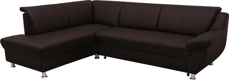 ecksofa mit ottomane wahlweise mit bettfunktion otto. Black Bedroom Furniture Sets. Home Design Ideas