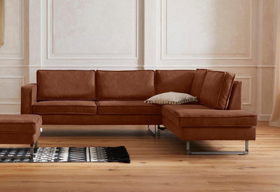 gmk home living ecksofa toulouse mit offenen kedern hten metallgestell und losen kissen. Black Bedroom Furniture Sets. Home Design Ideas