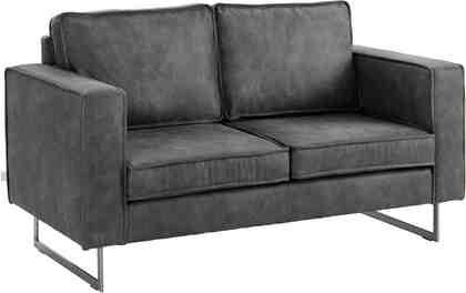 GMK Home & Living 2-Sitzer »Toulouse« mit offenen Kedernähten, Metallgestell und losen Kissen