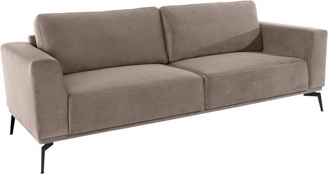 Sofas - Guido Maria Kretschmer Home Living Big Sofa »Nantes«, in wunderschönem Design, ungewöhnliche Metallbeine  - Onlineshop OTTO