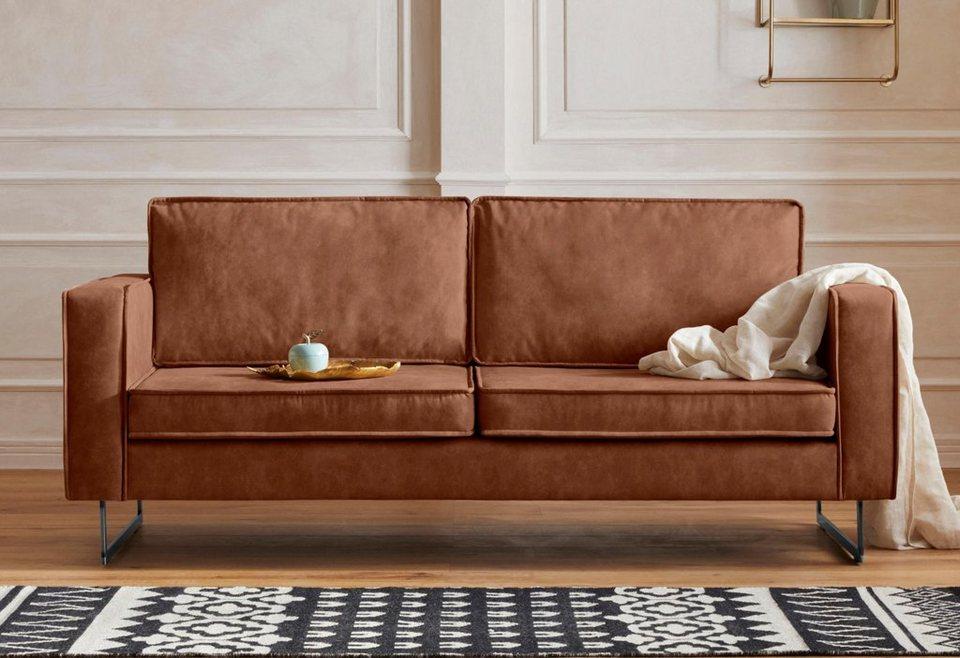 gmk home living 3 sitzer toulouse mit offenen kedern hten metallgestell und losen kissen. Black Bedroom Furniture Sets. Home Design Ideas