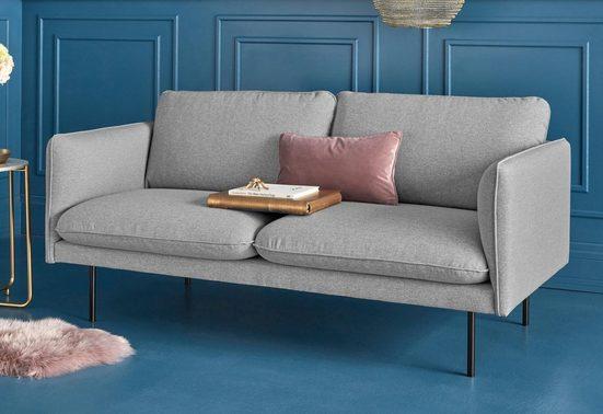 COUCH♥ 2-Sitzer »Levon«, in moderner Optik, mit Metallbeinen, COUCH Lieblingsstücke