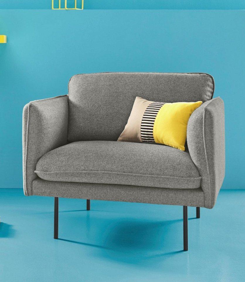 COUCH? Sessel »Levon«, in moderner Optik, mit Metallbeinen