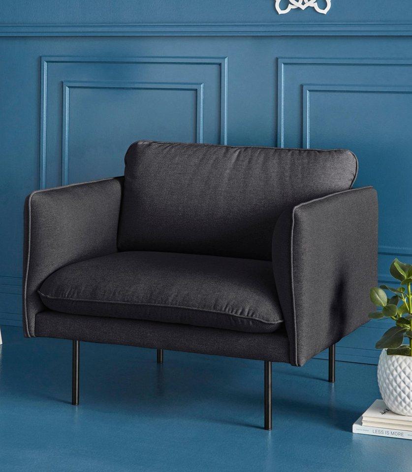 COUCH♥ Sessel Levon in moderner Optik mit Metallbeinen online kaufen