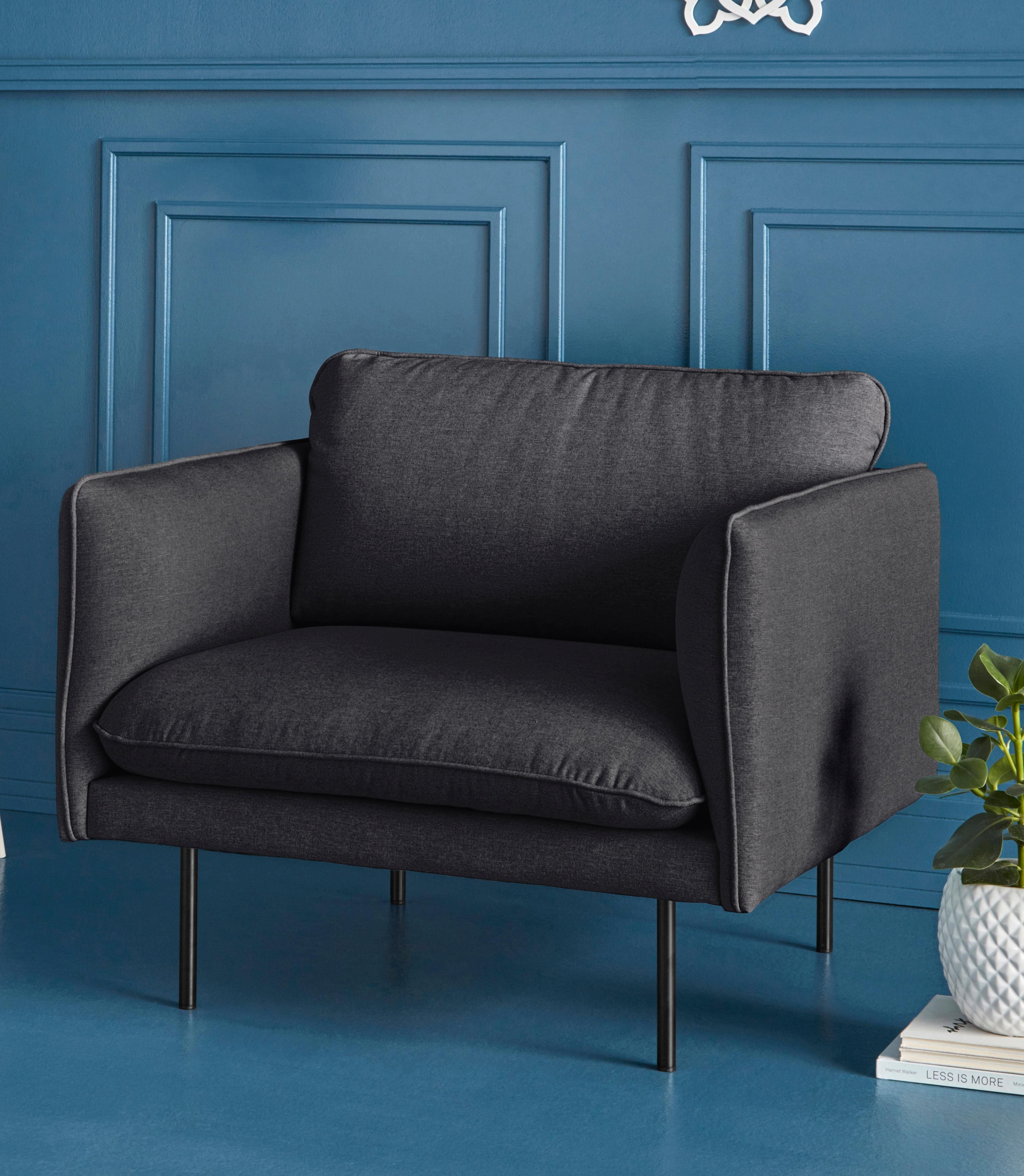 COUCH♥ Sessel »Levon«, in moderner Optik, mit Metallbeinen