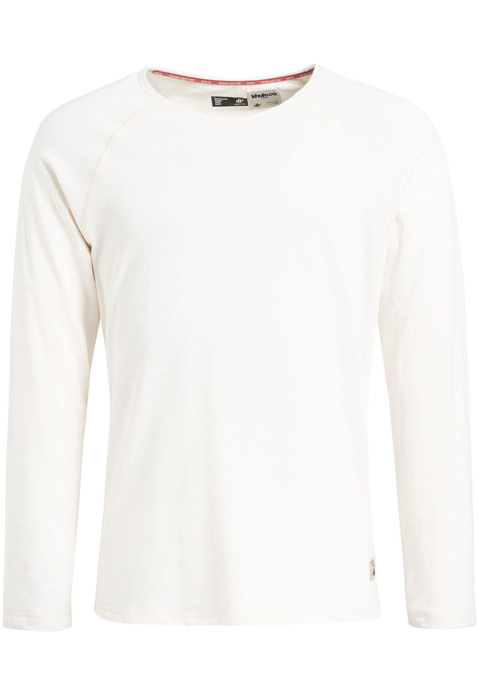 khujo Langarmshirt »TINO« aus Baumwolle