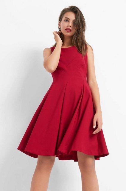 Damen ORSAY Abendkleid ausgestellter Rock mit Fältchen-Details rot | 04058582083771
