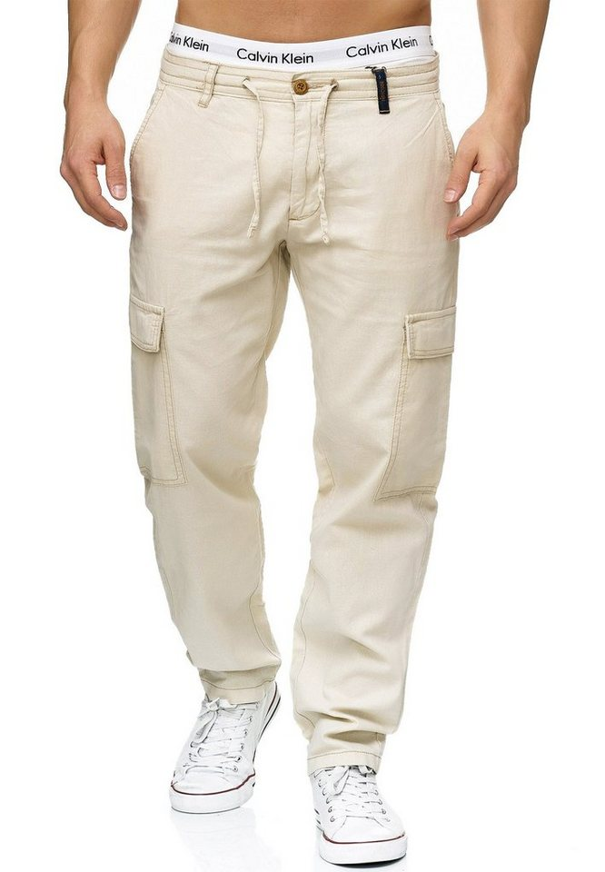 Indicode Leinenhose »Leonardo« | Bekleidung > Hosen > Leinenhosen | Weiß | Indicode