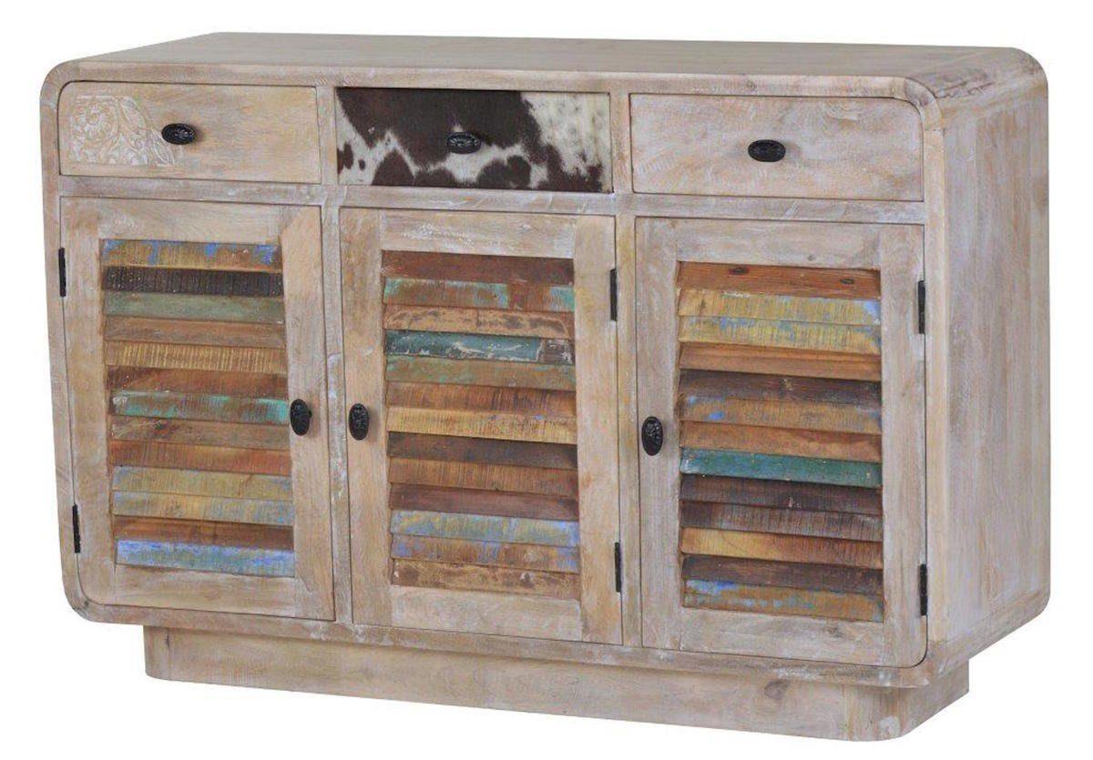 KAWOLA Sideboard Massivholz weiß »HILDI«