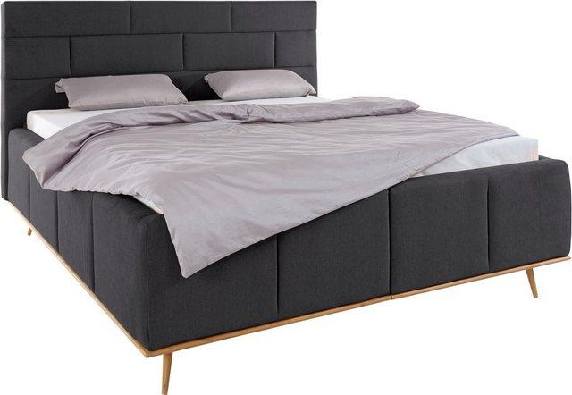 Betten - Places of Style Polsterbett »Padise«, mit Echtholzrahmen, Lattenrost und Bettkasten › Einheitsgröße › schwarz  - Onlineshop OTTO
