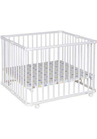 GEUTHER Medinė lovytė su ratukais