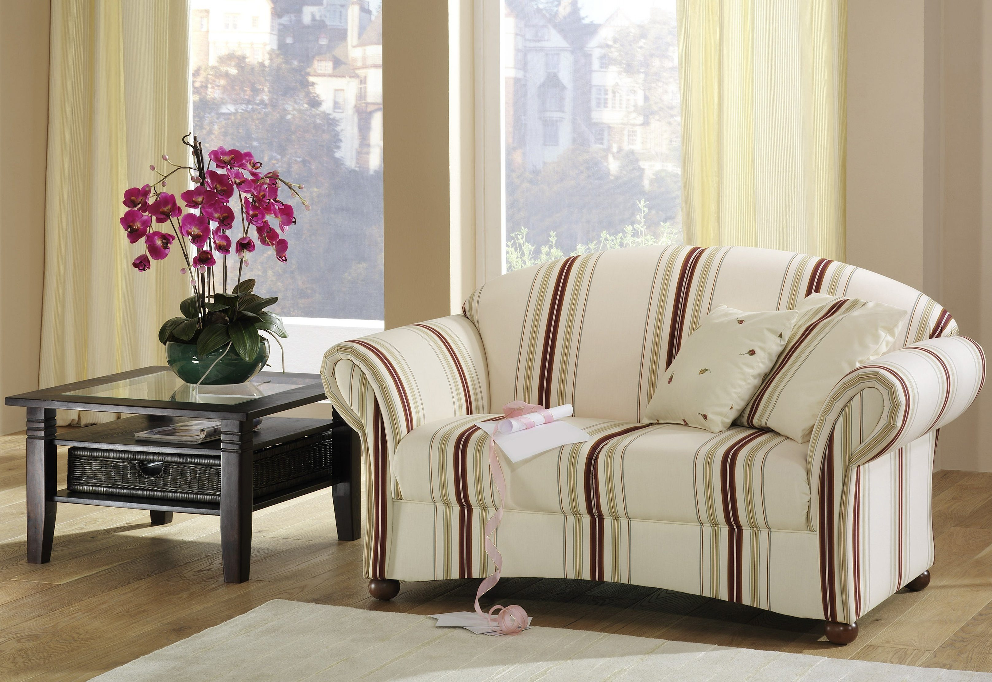 Max Winzer® 2-Sitzer Sofa »Carolina«, im Retrolook, Breite 150 cm