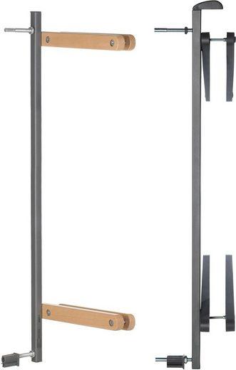 Geuther Zusatzklemmen »Easylock Wood Plus, natur/silber«, für Umbau von Türschutz- zum Treppenschutzgitter