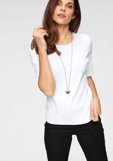 Olsen T-Shirt Basicshirt mit Rundhalsausschnitt