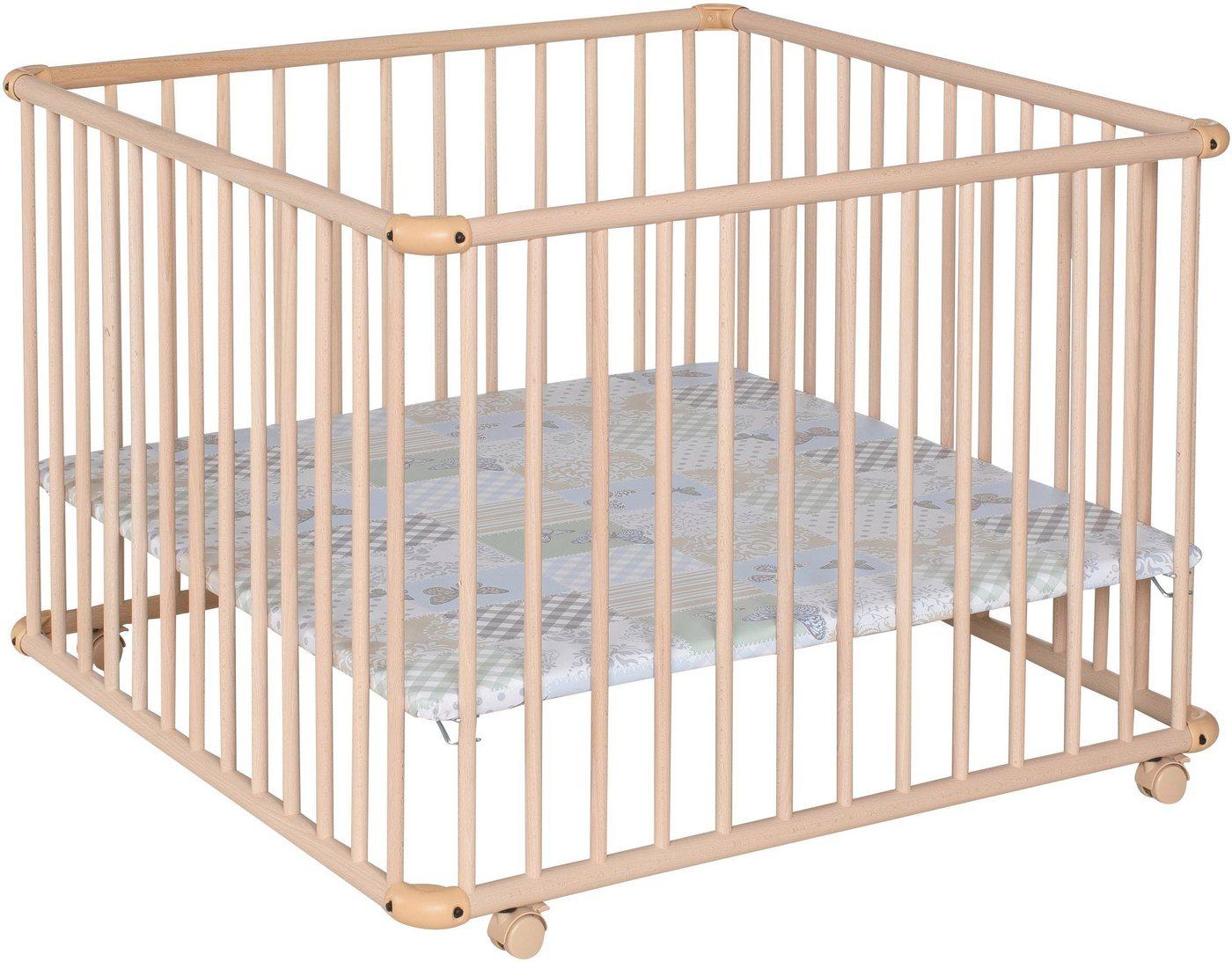 unisex Geuther Laufgitter »Belami Plus, natur, 97x97 cm«, mit Folienboden 004 natur  Kinderzimmer Baby