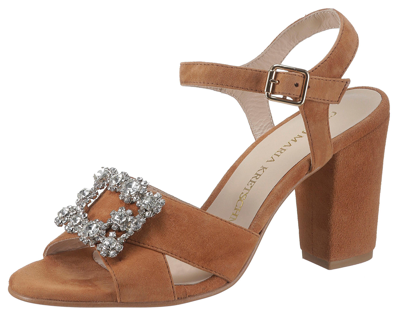 GUIDO MARIA KRETSCHMER Sandalette mit glitzerndem Schuckstück